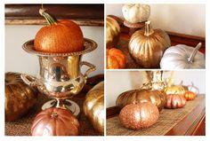 Glitter & Metallic Pumpkins... so, so easy!
