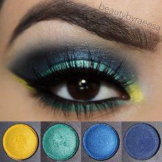 Colorful look using coastal scents eyeshadow