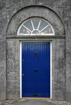Blue Door, Tyrrellspass - 2 Another blue door in the village square, Tyrrellspass, Westmeath in central Ireland.