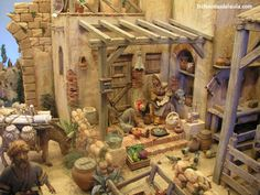belenistas de la Isla. Fotos Nativity House, Diy Nativity, Christmas Nativity Scene, Christmas Villages, Fontanini Nativity, Miniature Crafts, Christmas Projects, Easter Baskets, Diy And Crafts