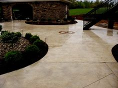 Beige Colored Patio, Seamless Stamped Patio Stamped Concrete Hancock Family  Homes Louisville, KY