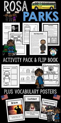 """Your students will love learning about one of the most inspirational African-American women of all time. **This unit has been completely updated with reading passages and activities in 2017!!***  One cold day in December 1955, Rosa Parks was told move to the back of the bus. Rosa was tired of being discriminated against and refused to move from her seat. Instead, she politely said, """"No!"""" The bus driver called the police, and Rosa Parks was arrested. #policeinspiration"""