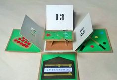 Amazing!..Snooker themed, exploding birthday box card Birthday Box, Birthday Cards, Exploding Box Card, Fathers Day, Envy, Stampin Up, Gift Ideas, Future, Random