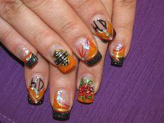 Harley nails by totalenvy2003 - Nail Art Gallery nailartgallery.nailsmag.com by Nails Magazine www.nailsmag.com #nailart