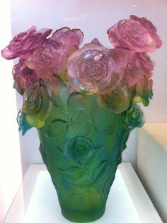 Lalique  Roses Paradise Vase, 99 ex, Daum