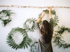 fern wreaths!!! How cute and easy!!