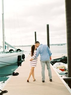 Nautical Brittany and Gary's Newport Engagement Photos on The Newport Bride