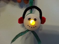 Children At Play: Snowman Ornaments-- Their Noses Light Up!!
