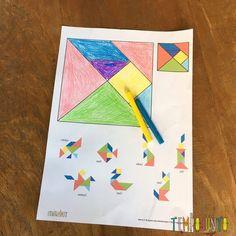 Como fazer tangram: atividade para crianças - Tempojunto Baby, Educational Games, Kids Activity Ideas, Draping, Pranks, Baby Humor, Infant, Babies, Babys