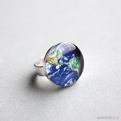 Because you are my world! Etsy listing at https://www.etsy.com/listing/123682578/planet-earth-ring-globe-ring-america