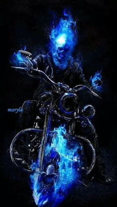 The gallery for --> Ghost Rider Blue Flame Angel Ghost Rider Spirit Of Vengeance Blue Fire
