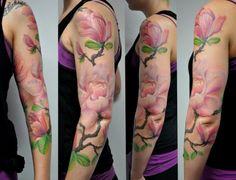 Tattoo-Foto: Magnolien