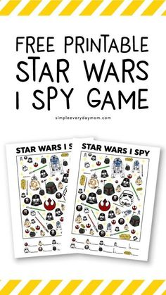 Star Wars Free Printable I Spy | Kids will love this Star Wars themed activity that helps them learn one to one correspondence, focus and more! #starwars #starwarsday #printablesforkids #simpleeverydaymom