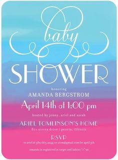 Serene Shower - Baby Shower Invitations - Picturebook #babyshower
