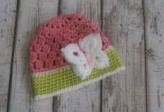ON SALE  Crochet baby girl hat  Butterfly hat  by palomapch, $14.00