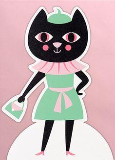 #Cat #Card by #Ingela Poes pop-up wenskaart 12x17 from www.kidsdinge.com    www.facebook.com/pages/kidsdingecom-Origineel-speelgoed-hebbedingen-voor-hippe-kids/160122710686387?sk=wall         http://instagram.com/kidsdinge #Kidsdinge #Toys #Speelgoed