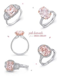 Pink engagement rings. #engagement #rings #pink