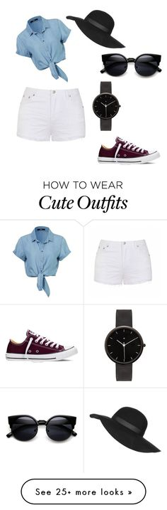 """cute summer outfit"" by cgraves12 on Polyvore featuring Ally Fashion, Topshop, Converse, I Love Ugly, women's clothing, women, female, woman, misses and juniors"