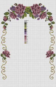 Cross Stitch Rose, Cross Stitch Flowers, Ribbon Embroidery, Cross Stitch Embroidery, Cross Stitch Designs, Cross Stitch Patterns, Filet Crochet, Cross Stitching, Free To Use Images
