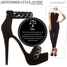 Sansa was made for #Libra! Embellish your look with sexy sleek hardware. #horoscope #ShoeDazzle