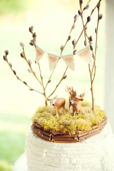 Forest Full of Love Deer Wedding Cake Topper by afoxwedding, $68.00