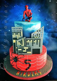 Spiderman cake by Mania M. - CandymaniaC