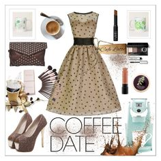 """""""coffee ☕"""" by greensparkle1 ❤ liked on Polyvore featuring Keurig, Java, WithChic, Bobbi Brown Cosmetics, NARS Cosmetics and MAC Cosmetics"""