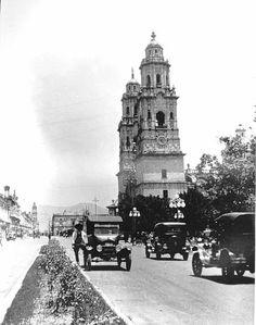 Catedral y Calle Real a principios del siglo XX.