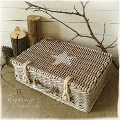 Use rope to replace missing catches on my wicker suitcase. Great!
