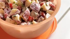 Using prepared dressing and peel-on potatoes, you can have this side dish ready to feed 16 in an hour!