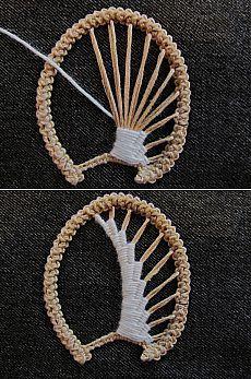 This Pin was discovered by emi Hardanger Embroidery, Hand Embroidery Stitches, Embroidery Techniques, Ribbon Embroidery, Embroidery Patterns, Freeform Crochet, Irish Crochet, Crochet Motif, Crochet Lace