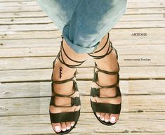 Women Sandals, Handmade Sandals, Leather Greek Sandals,Ancient Greek Sandals , ARTEMIS by GreeksandalsPenelope on Etsy Roman Sandals, Lace Up Sandals, Strappy Sandals, Black Sandals, Gladiator Sandals, Leather Sandals, Real Leather, Black Leather, Penelope