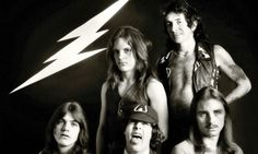 Prehistoric rock: AC/DC in 1976 (clockwise from bottom left) Malcolm Young, Mark Evans, Bon Scott, Phil Rudd and Angus Young. Rock And Roll Bands, Rock Bands, Ac Dc Guitarist, Stages Of Dementia, Malcolm Young, Lemmy Motorhead, Parenting Issues, Bon Scott, Brian Johnson