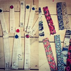 Handmade Liberty of London bookmarks