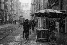 Snowy day in İstiklal street. İstanbul by Namık Toprakçı on 500px