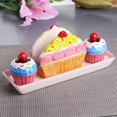 Mutfaklar Şenleniyor - Cupcake Peçetelik Tuzluk