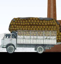 Camió carregat de marraixes / Camión cargado de garrafas Wooden Toys, Vehicles, Car, Bottle, Museum, Transportation, Automobile, Wood Toys, Woodworking Toys