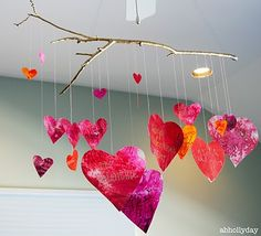 Valentine's Day Craft Idea, you and Irys could do this