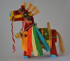 Chagu-chagu Umaku horse doll red large vintage by StyledinJapan