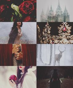 "Fairy Tales: Snow White ""Skin white as snow, lips red as blood, and hair black as ebony."""