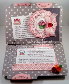Recipe book for Our Daily Bread designs. All of these stamps and dies can be found at  www.ourdailybreaddesigns.com