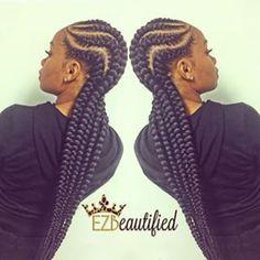 Afro-American hair braid styles of 2016 – make dimensional braids Black Girl Braids, Braids For Black Women, Girls Braids, Ghana Braids Hairstyles, Braids Hairstyles Pictures, Protective Hairstyles, Hairdos, Braided Hairstyles For Black Women, Pretty Hairstyles