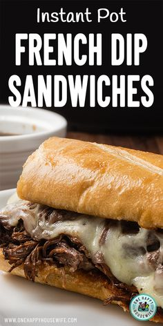This French Dip recipe will be your new favorite Instant Pot recipe. Unbelievably juicy and savory and certain to please a crowd. Best Instant Pot Recipe, Instant Recipes, Instant Pot Dinner Recipes, Cheap Instant Pot, Instant Pot French Dip, Instant Pressure Cooker, Pressure Cooker Recipes, French Dip Recipes, Hot Beef Sandwiches