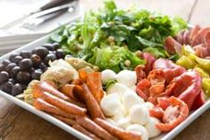 Whole foods...the perfect antipasto plate. Going crazy with this idea for my son's birthday party tomorrow. Serving 2 kinds of lasagna, Caesar salad, etc., too.