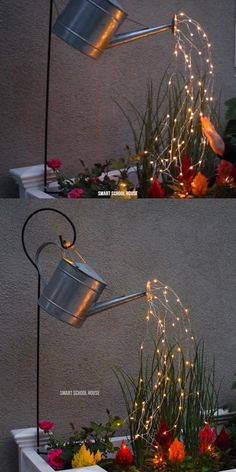 DIY Watering Can with Lights for Your Yard
