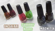 Últimas colecciones de China Glaze ~ Magnetix, Summer Neons y On Safari ~
