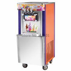 1449.00$  Buy here - http://ali2zg.worldwells.pw/go.php?t=1952006071 - Commercial Soft Icecream Machine High Production Capacity 42~45 liters/h Brand New Ice Cream Making Machine 1449.00$