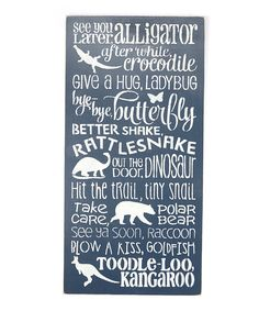 Take a look at this Navy 'Later Alligator' Wall Art today!