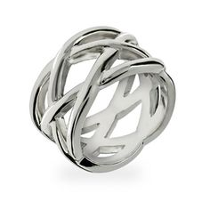 This Designer Inspired knotted silver ring is simply beautiful. This is a great simple piece that will compliment any outfit. This silver knot ring has a pretty woven design of sterling silver. It measures 3/8 inch wide and will look perfect with our matching sterling silver knotted cuff bracelet.