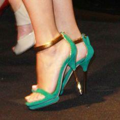 Escarpin vert Gucci